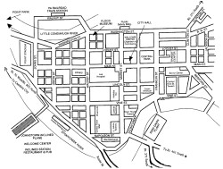 Downtown Johnstown, PA Map